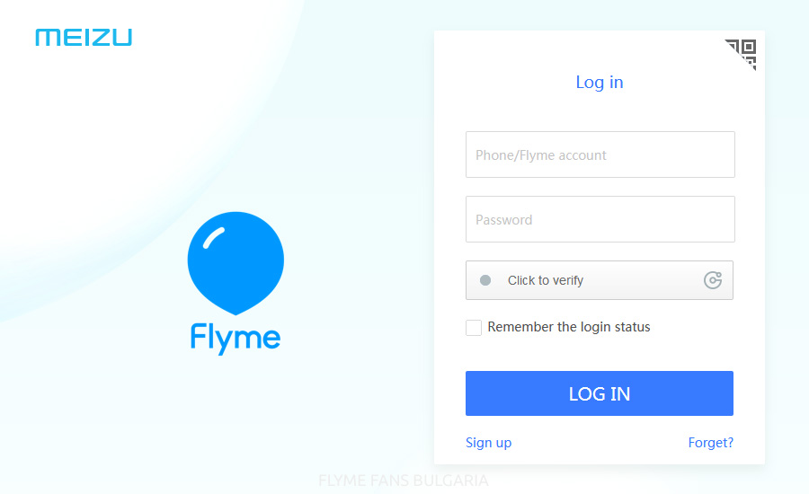 Recovering a forgotten Flyme account password