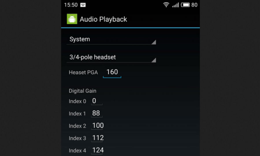 Увеличаване на силата на звука в слушалките чрез инженерното меню