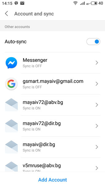Flyme account sync