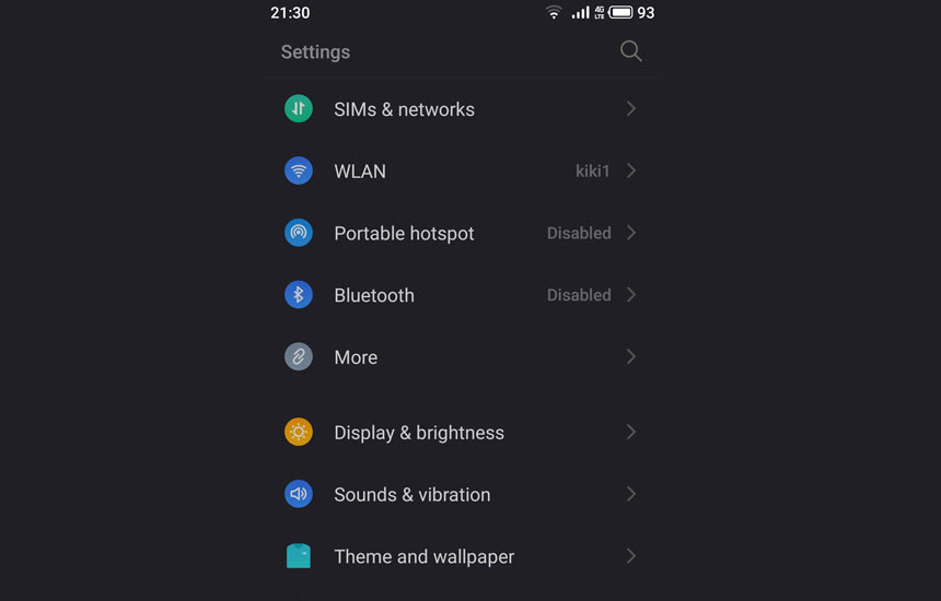 Flyme night mode