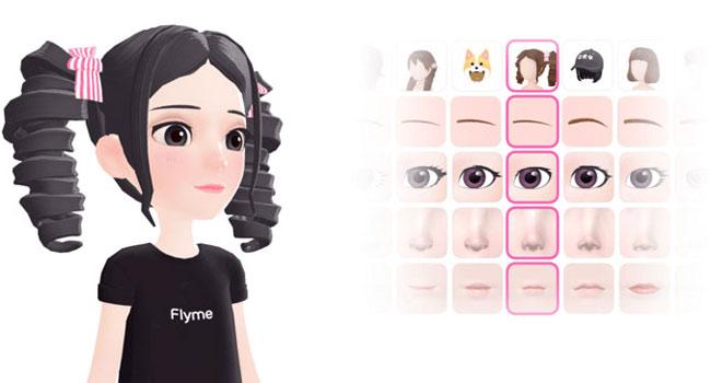Flyme 8 AR 3D avatar