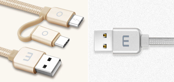Meizu 2 In 1 Type-C & Micro USB Metal Data Cable
