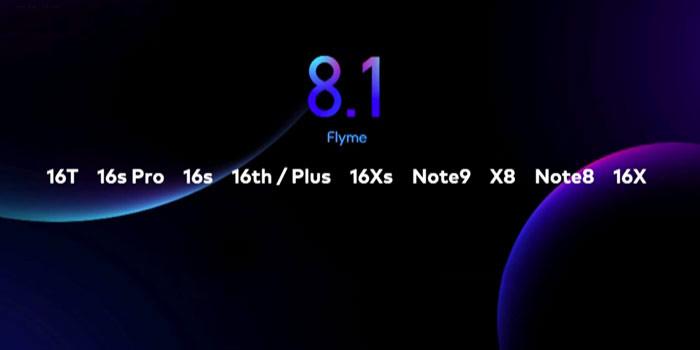 Meizu models Flyme 8.1