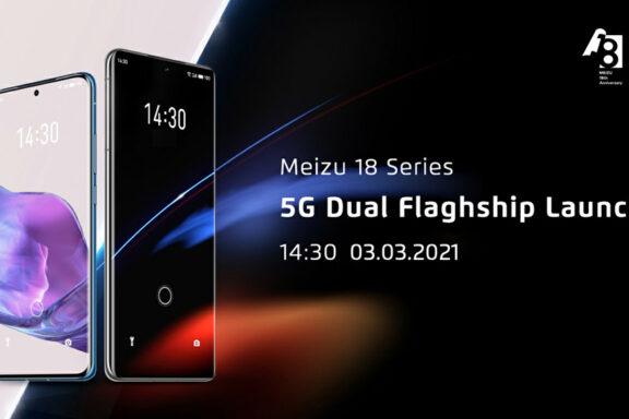 Показаха външния вид на Meizu 18 и 18 Pro: Централно перфорирани леко извити екрани с различни размери