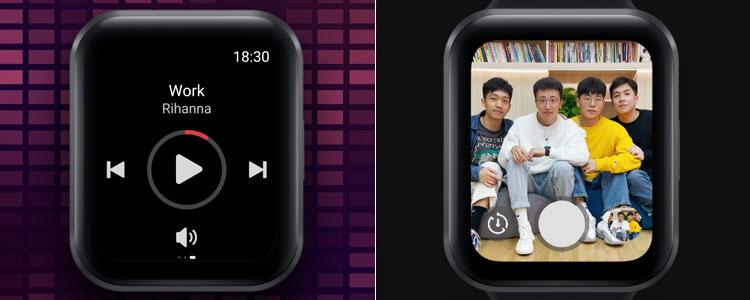 Meizu Watch remote camera music