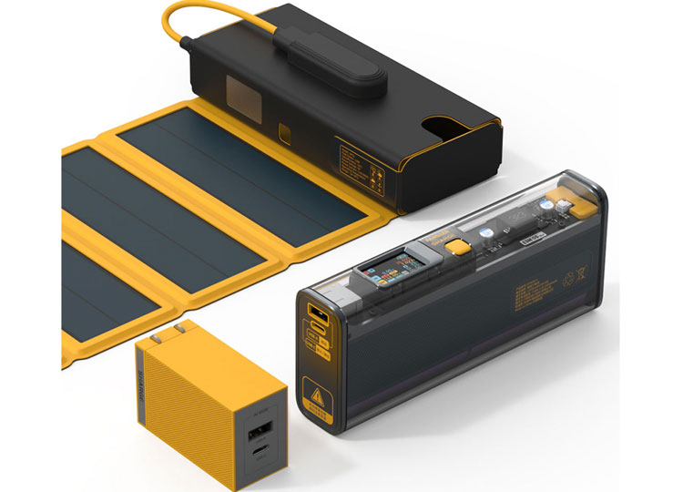 PANDAER power bank solar charging armor 65w charger